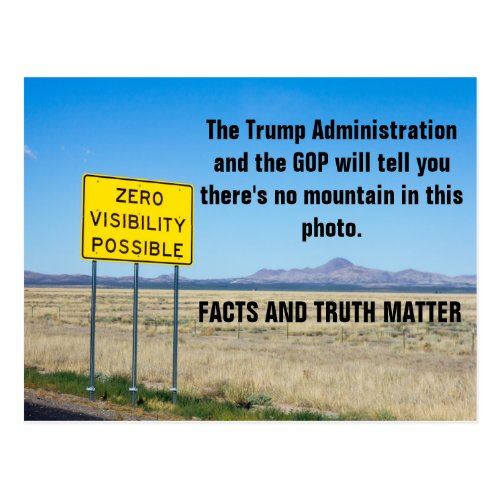 Facts and Truth Matter Resist Postcard