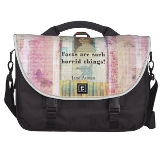 Facts are such horrid things -  Jane Austen quote Laptop Bag