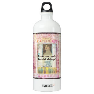 Facts are such horrid things -  Jane Austen quote SIGG Traveler 1.0L Water Bottle