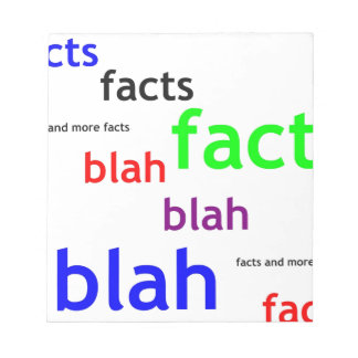 Facts boring facts notepad