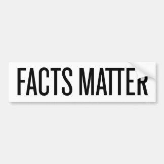 Facts Matter Car Bumper Sticker