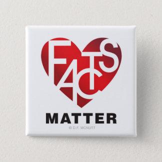 Facts Matter Lover's Heart® Button