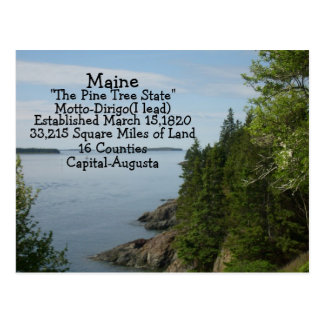 Facts of Maine Postcard