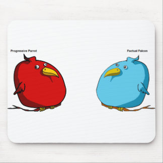 Factual Falcon & Progressive Parrot Mouse Thing Mouse Pad