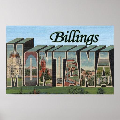 Facturaciones, Montana - escenas grandes de la let Póster