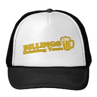 Facturaciones que beben las camisetas del equipo gorras de camionero