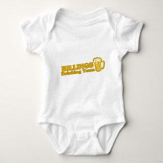 Facturaciones que beben las camisetas del equipo mameluco de bebé