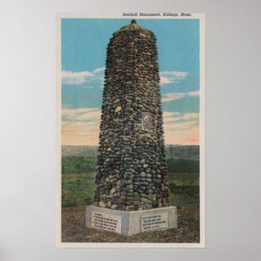 Facturaciones, TA - vista del monumento de Boothil Póster