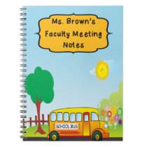 Faculty Meeting Notes Notebook