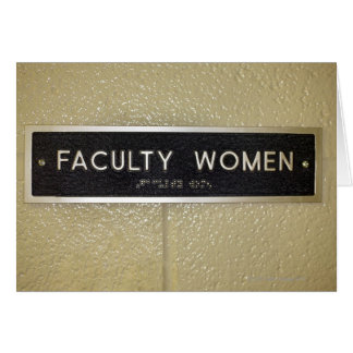 Faculty women sign greeting cards