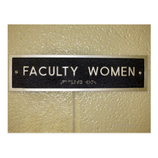 Faculty women sign post card