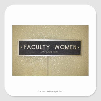 Faculty women sign square stickers