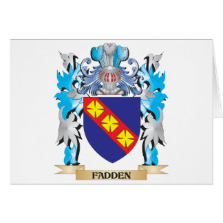 Fadden Coat of Arms - Family Crest Greeting Cards