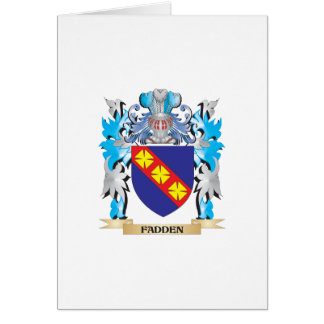 Fadden Coat of Arms - Family Crest Greeting Card