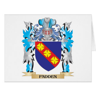 Fadden Coat of Arms - Family Crest Card