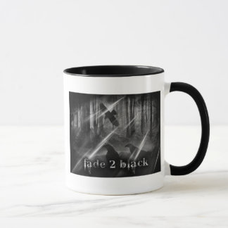 Fade 2 Black Dark Forest Ringer Mug