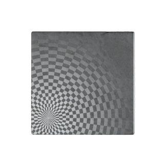 Fade to Black Checker Stone Magnet