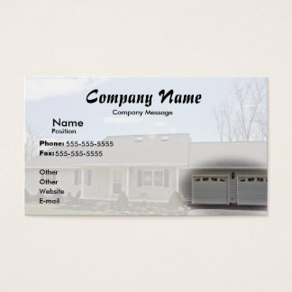 Fade to White Business Card