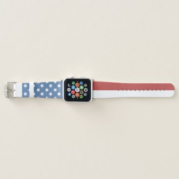 USA Themed Faded American Flag Apple Watch Band