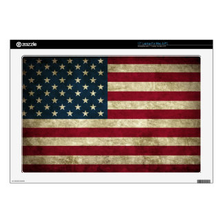 faded and grungy american flag laptop skins