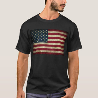 faded and grungy american flag T-Shirt