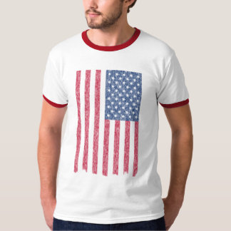 Faded and Torn but Still Glorious American Flag T-Shirt