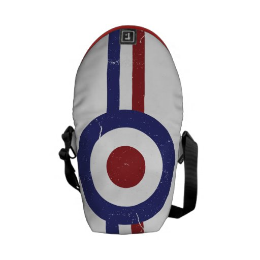 Faded and weathered Mod target Courier Bags
