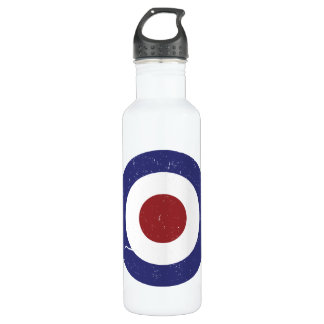 Faded and weathered Mod target 24oz Water Bottle