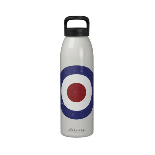 Faded and weathered Mod target Reusable Water Bottles