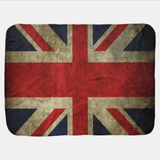 Faded Antique Union Jack Flag Baby Crib Stroller Stroller Blanket