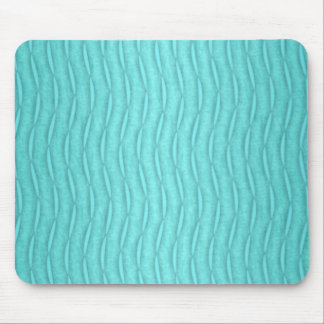 Faded Aquamarine Turquoise Wavy Vertical Pattern Mouse Pad