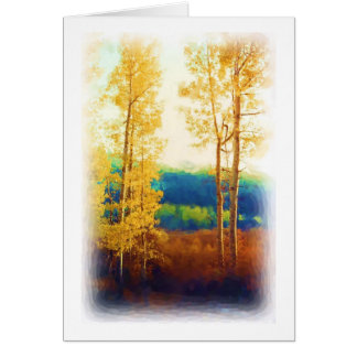Faded Aspens card