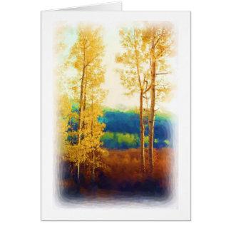 Faded Aspens card