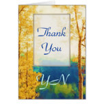 Faded Aspens Thank-You Greeting Card