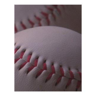 faded baseballs letterhead