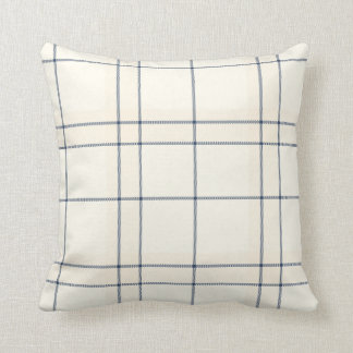 Faded Blue and Cream Tartan Plaid Pillows