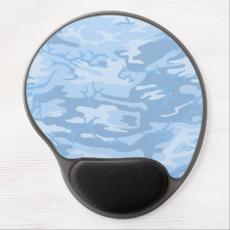 Faded Blue Camo Gel Mouse Pad