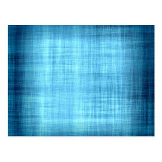 Faded Blue Fabric Postcard
