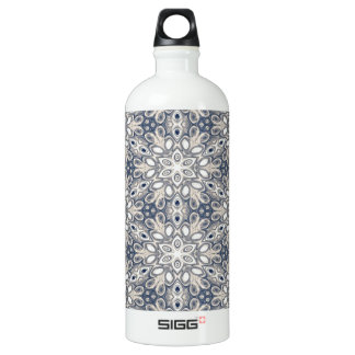 Faded Blue Floral Art SIGG Traveler 1.0L Water Bottle