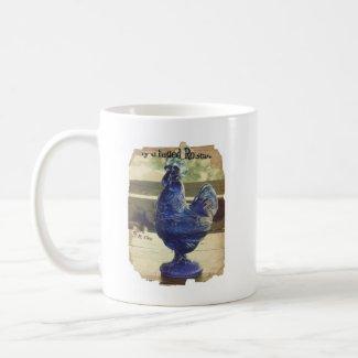 Faded Blue Glass Roo 2 mug