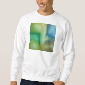 Faded Blue & Green Abstract Oil Painting Sweatshirt
