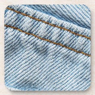 Faded Blue Jeans Beverage Coaster
