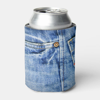 FADED BLUE JEANS CAN COOLER