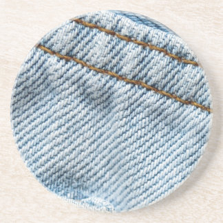 Faded Blue Jeans Sandstone Coaster