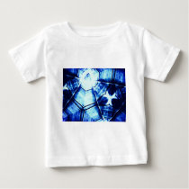 Faded Blue Pattern Baby T-Shirt