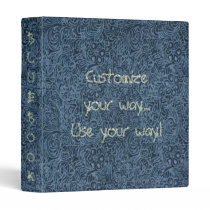 Faded Blue Tool Leather Print Avery Binder