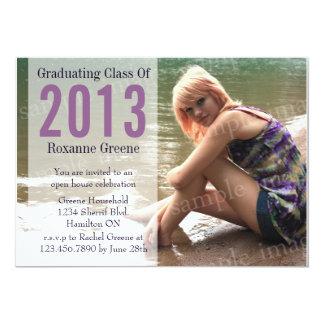 Faded Box Photo Grad Invitation - Purple