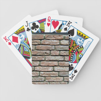 Faded brick texture bicycle playing cards