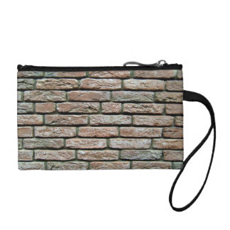 Faded brick texture coin wallet