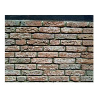 Faded brick texture postcard